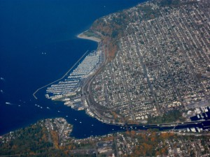 Another aerial view of Seattle